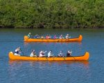 Canoes on Lake River